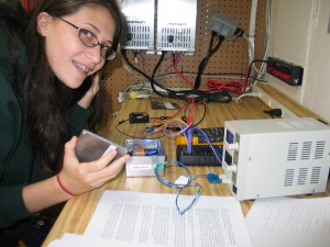 Shanni building and testing photoelectric effect setup