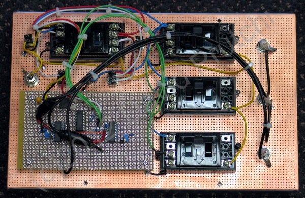 Inside of diy 2-channel single-photon and coincidence counter module