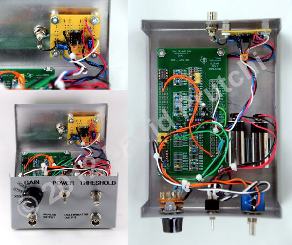 Inside view and construction details of diy PMT processor