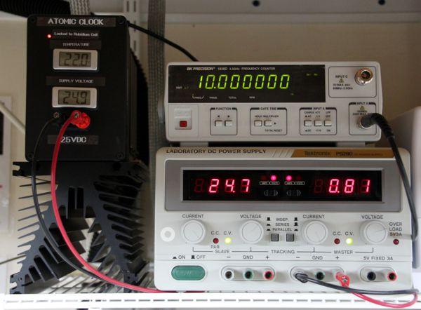 d.i.y. rubidium atomic clock frequency standard by David Prutchi Ph.D. measured against GPS-disciplined clock