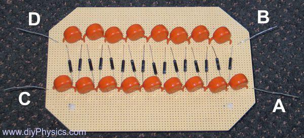 Circuit board of Dual-Polarity High-Voltage Cockroft-Walton Multiplier by David and Shanni Prutchi