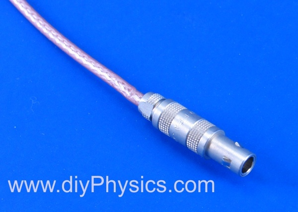 Connector cable for miniature photomultiplier/scintillation probe David Prutchi Ph.D. www.diyPhysics.com
