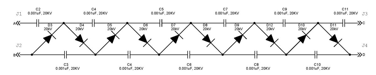 diy physics blog  d.i.y.  kv high voltage dc power supply with, circuit diagram