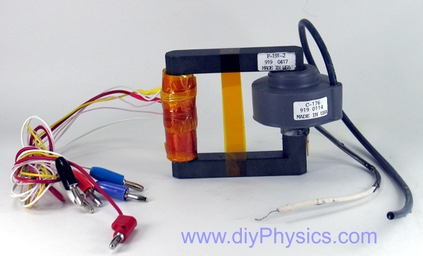 High voltage flyback transformer by David and Shanni Prutchi www.diyphysics.com