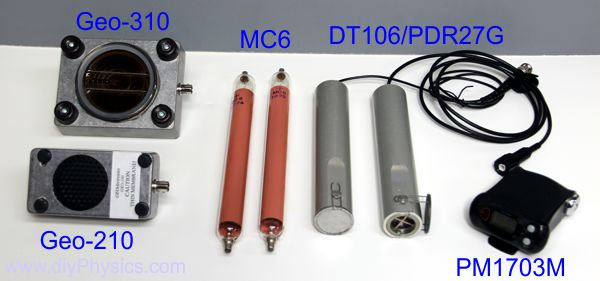 GM tubes compared with russian-made MC6 GM tubes.  www.diyPhysics.com