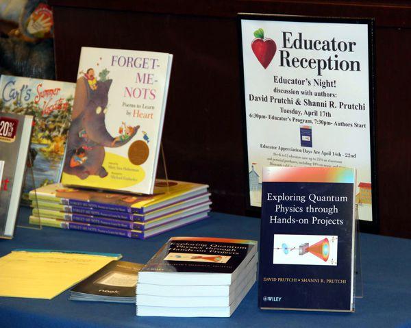 David and Shanni Prutchi at Barnes&Noble book signing. Marlton, NJ April 18, 2012