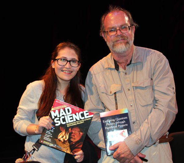 Shanni Prutchi with Theo Gray, USA Science &amp; Engineering Festival, Washington Dc, April 2012