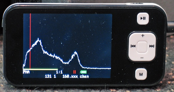 Freeware Gamma Grapher MCA with diy PMT Scintillation Probe by David and Shanni Prutchi diyPhysics.com Cs-137 sample spectrum