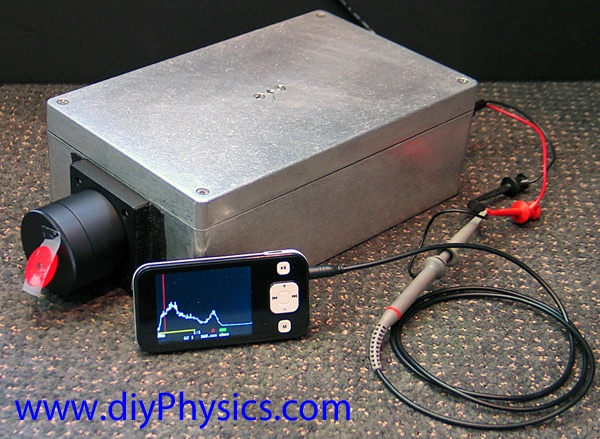Freeware Gamma Grapher MCA with diy PMT Scintillation Probe by David and Shanni Prutchi diyPhysics.com