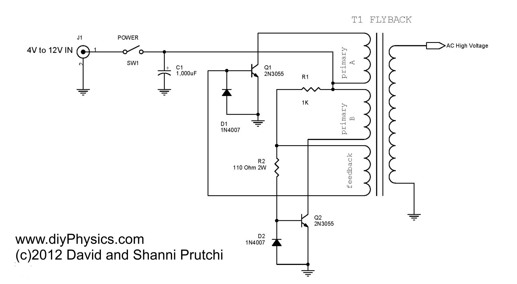 Diy 250 Kv High Voltage Dc Power Supply With Neat Trick For Variac Wiring Diagram Youtube Ac Driver By David And Shanni Prutchi